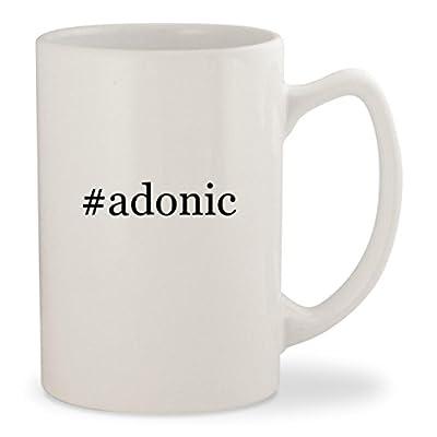#adonic - White Hashtag 14oz Ceramic Statesman Coffee Mug Cup