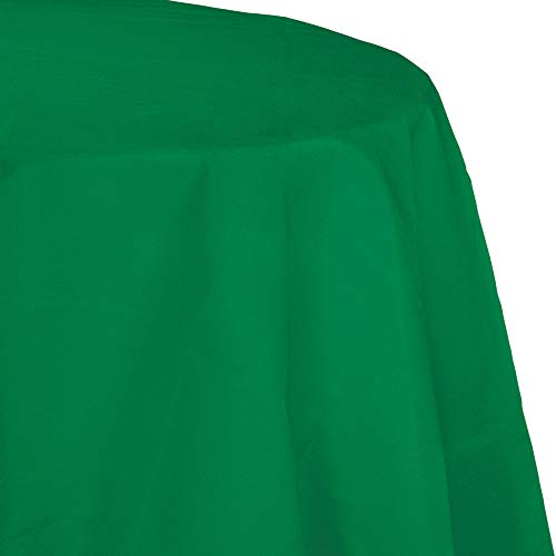 - Creative Converting Tissue Poly Table Covers Octy Round Plastic Tablecloth, 3 Ply 82 Inch x 82 Inch for 60 Inch Round Tables - 3 Pack and Quantities (Emerald Green, 1-3 Pack)