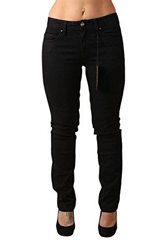 Oklahoma Jeans Marina, Vaqueros Rectos para Mujer Schwarz (Black 021)