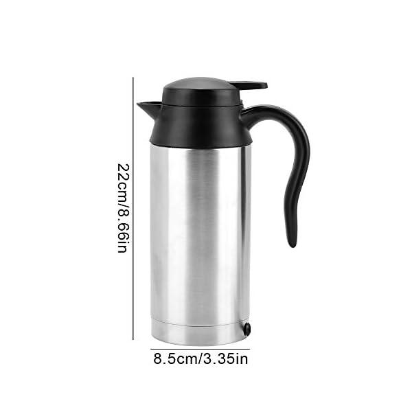 31UupkU2R4L 750ml Auto Elektrische Wasserkocher,Edelstahl 24V Zigarettenanzünder Thermobecher Wasserbecher für Wasser Kaffee…