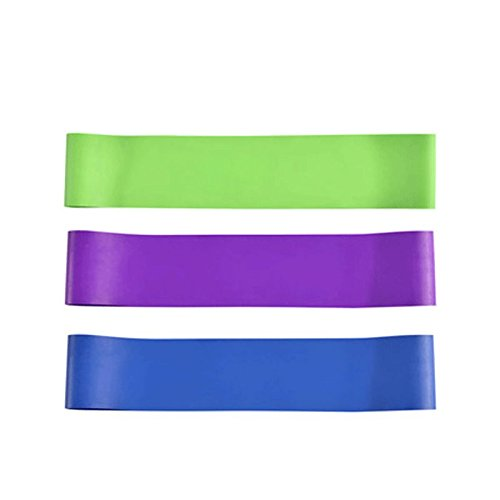 Exercise Bands - Exercising Stretch Bands - Light Medium Heavy Bands Fun Kits Docking Yoga Fitness Physiotherapy Family Equipment Training Women Men