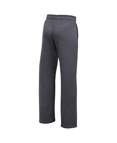 Under Armour Boys' Storm Armour Fleece Big Logo Pants, Carbon Heather (090)/Black, Youth Small by Under Armour (Image #1)