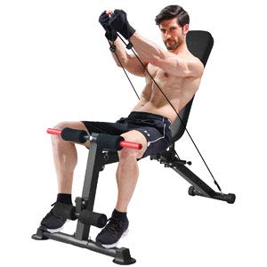 K KiNGKANG Adjustable Weight Bench Utility Workout Bench for Home Gym,Foldable Incline Decline Benches for Full Body Workout