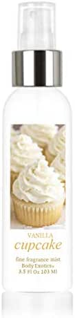 Vanilla Cupcake Perfume Fine Fragrance Mist by Body Exotics 3.5 Fl Oz 103 Ml ~ the Irresistible Scent of Freshly Baked Vanilla Cupcakes with Vanilla Buttercream Icing