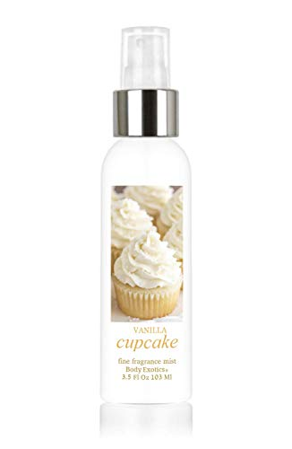- Vanilla Cupcake Perfume Fine Fragrance Mist by Body Exotics 3.5 Fl Oz 103 Ml ~ the Irresistible Scent of Freshly Baked Vanilla Cupcakes with Vanilla Buttercream Icing
