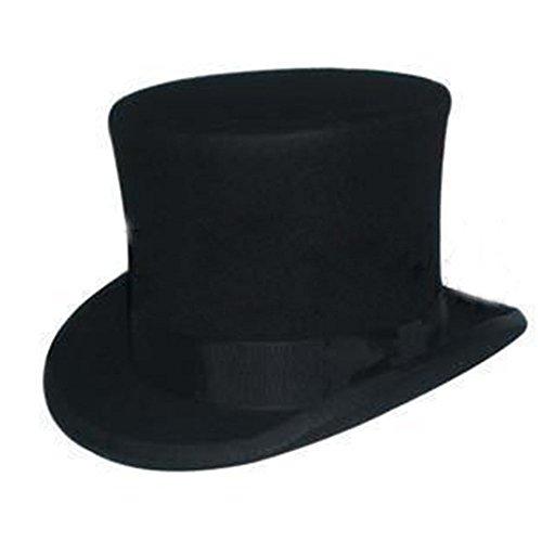 Rong 100% Wolle Viktorianischer Mad Hatter Top Hat Vivi Magic Hat Darstellende Gap
