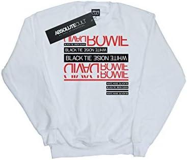 Absolute Cult David Bowie Damen Black Tie White Noise Sweatshirt Weiß XX-Large