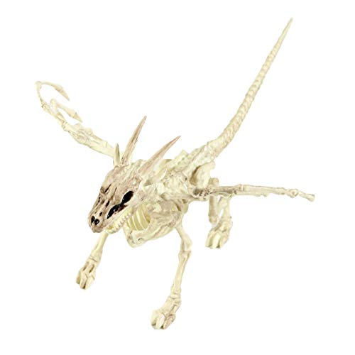 Cheapest Halloween Animatronics (SCharma alloween Horror Ornaments Scorpion Bat Mouse Spider Plastic Animal Skeleton Decoration)
