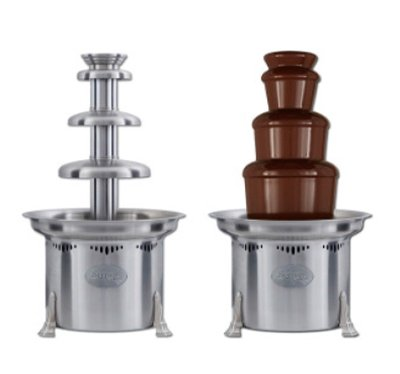 "Sephra The Cortez 23"" Commercial Chocolate Fountain - Brushed Stainless Steel"