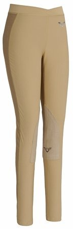 TuffRider Kid's Ventilated Schooling Tights, Safari/Safari,