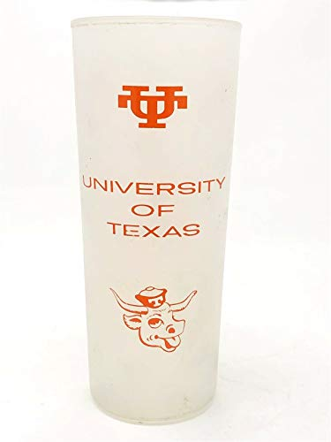 "Vintage 1960's University of Texas Longhorns 6 1/2"" Frosted High Ball Glass"