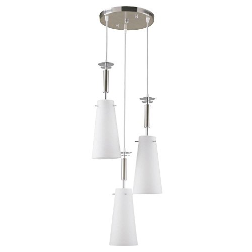 Light Brushed Nickel Ceiling Pendant - 4