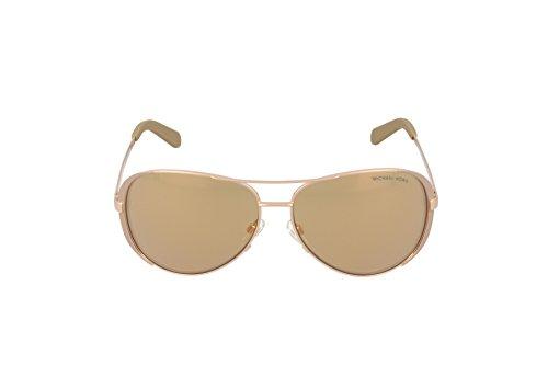 Michael Kors MK5004 1017R1 Gold Chelsea Aviator Sunglasses Lens Category 2 Lens