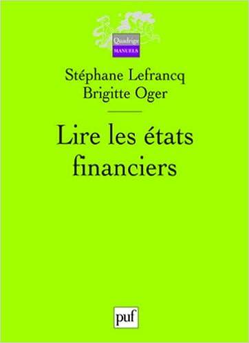 Livres gratuits Lire les états financiers pdf ebook
