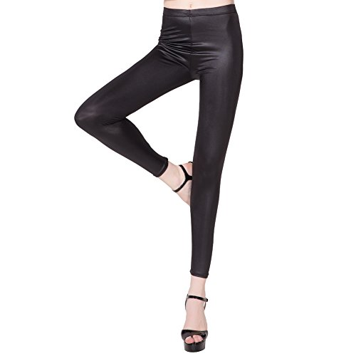 Women Faux Leather Skinny Pants Warm Low Waist Slim Leggings With Fleece (L/XL) (Cosplay Outfits For Sale)