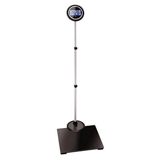Jobar International Digital Body Weight Bathroom Scale with Extendable Display - Supports Up to 550 lbs.