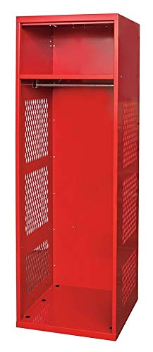 (Hallowell Gear Locker, 24x22x72, Red, With Shelf - KSNN422-1A-C-RR)