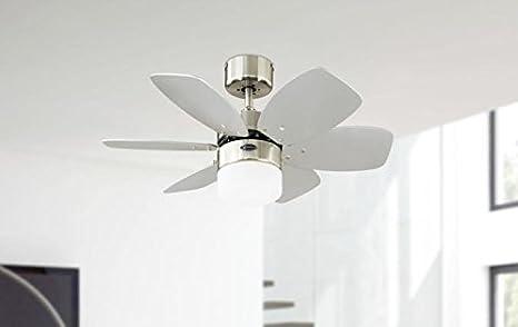 Westinghouse Flora Royale Ventilador de Techo E27, 60 W, Cromo ...