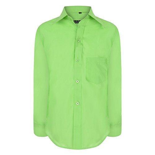 Ans Taille 15 Longues Costume Formelle 1 Chemise Parti Âge Ael Plaine Garçons Vert Élégant Manches Mariage nwORSTqP6q