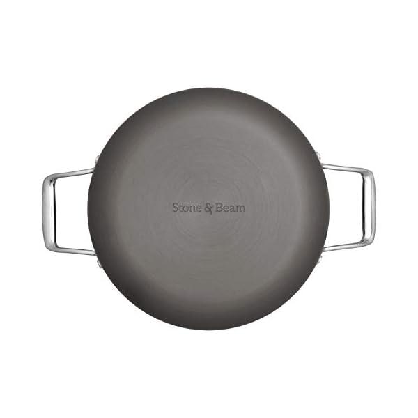 Amazon Brand – Stone & Beam Kitchen Cookware Set, 12-Piece, Pots and Pans, Hard-Anodized Non-Stick Aluminum 2