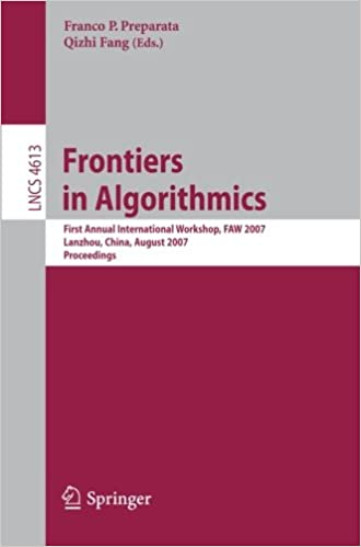 Ilmainen ladattava pdf-tietokone Frontiers in Algorithmics: First Annual International Workshop, FAW 2007, Lanzhou, China, August 1-3, 2007, Proceedings (Lecture Notes in Computer ... Computer Science and General Issues) PDF FB2 iBook