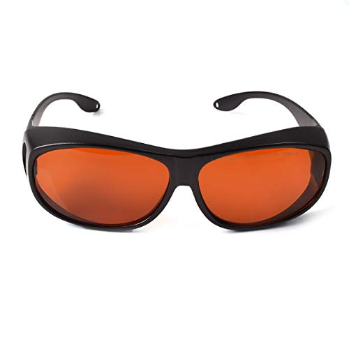 OD 6+ 190nm-550nm / 800nm-1100nm Wavelength Professional Laser Safety Glasses for 405nm, 450nm, 532nm, 808nm,980nm,1064nm, 1080nm, 1100nm Laser (Style 4)