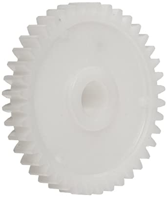 Plastic PowerDrive 10M040B8 Polyoxymethylene Spur Gear, 20 Degree Pressure Angle, 40 Teeth x 8mm Bore x 40mm Pitch Diameter 1,0 Module