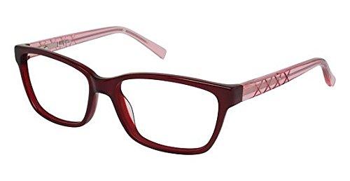 Nicole Miller Berkeley Eyeglass Frames - Frame TRANSLU CHERRY, Size - Berkeley Eyewear