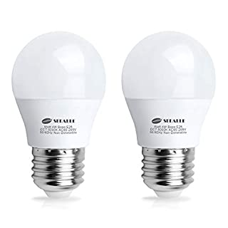 LED Refrigerator Light Bulb 4 Watt, Seealle Waterproof Freezer LED Light Bulbs, A15 E26 Medium Base Appliance Fridge Light Bulb, 40 Watt Equivalent 120V, Daylight White, Not-Dim (Pack of 2)