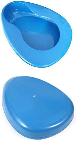 Bedpan for Women Men Elderly, Large Bedpan for Bedridden Patient Female Male, Bed Pan for Bedbound Emergency Device Hospital Home (Blue) 31Uv8eV0keL