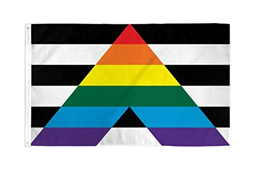 SoCal Flags Gay Straight Alliance Flag from 3x5 Foot Polyester Rainbow Banner - Sold by an American Company - Durable 100d Material Not See Thru Like Other Brands Weather Resistant (Flags That Look Like The American Flag)