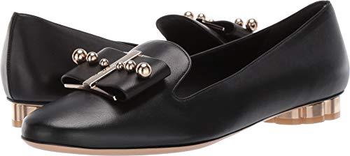 (Salvatore Ferragamo Women's Sarno Pearl Loafer Nero New Nappa 6.5 B US)