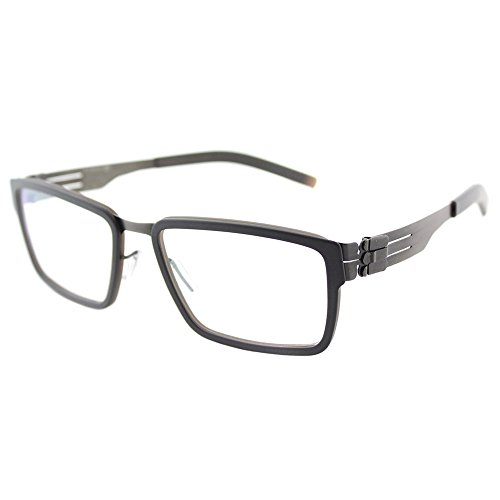 ic! Berlin Gert H. Eyeglasses Graphite Rocky Grey Matt/RX-Clear 52 - Rx Glasses