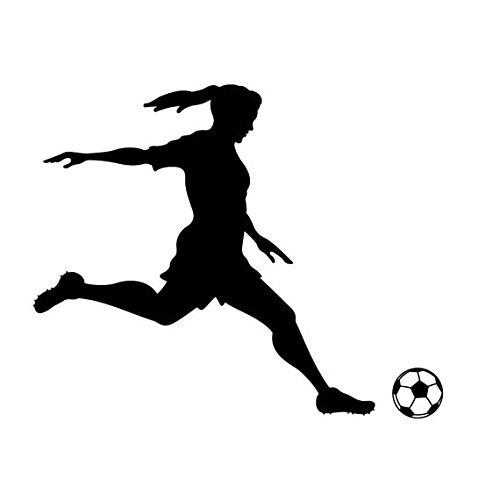 Wall Decal Sticker bedroom girl soccer sport player ball pray nursery bo2661