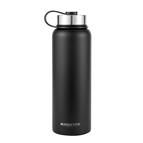 KANGFUTE Insulated Water Bottle, 18/8 Stainless Steel Wide M