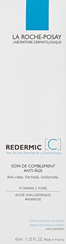 La Roche-Posay Redermic C Anti-Wrinkle Firming Facial Moisturizer for Normal to Combination Skin with Vitamin C, 1.35 Fl. Oz.