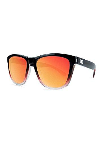 Knockaround Premiums Polarized Sunglasses, Glossy Black and Red Ice / - Sunglasses Glossy