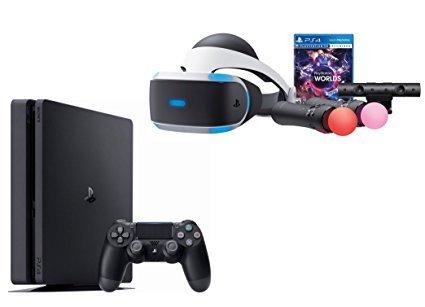 PlayStation VR Launch Bundle 2 Items: VR Launch Bundle, Sony PlayStation4 Slim 1TB Console- Jet Black ()