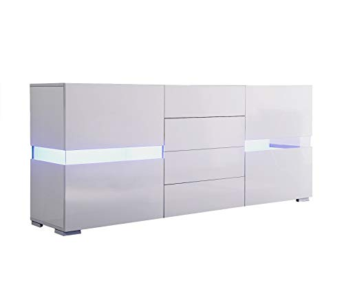 High Gloss Sideboard With Led Lights in US - 3