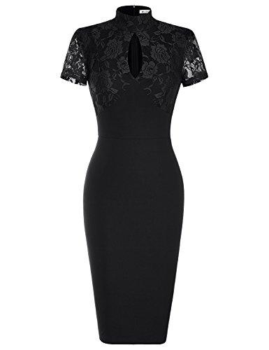 Buy black 40s dress - 9