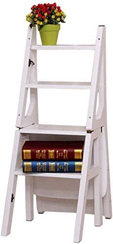 GOG Fácil y cómodo taburete plegable Paso, madera sólida plegable escalera Presidente Inicio de bambú escalera ascendente Escalera plegable Silla creativa escala 42 × 37 × 90 cm de tijera, el taburet: