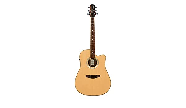 Guitarra eléctrica Ashton D66SCEQ acústica con cuerpo acorazado y abeto: Amazon.es: Instrumentos musicales