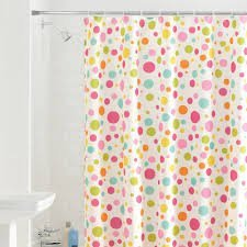 pink and yellow shower curtain. Fun Bright Pink Green Yellow Teal Polka Dot Fabric Shower Curtain