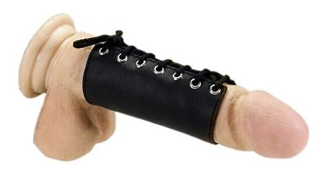 Shoe lace around penis
