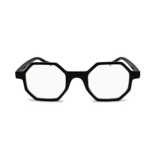 (2SeeLife - Hexagon Shape Reading Glasses Unique Geometrical Eyeglass Frame for Man Woman - Top Seller)
