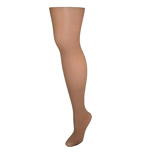 Hanes Alive Womens Nylon Full Support Reinforced Toe Sheer Pantyhose (Pack of 3), F, Barely There