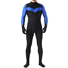 Unisex Bodysuits Lycra Spandex Zentai Halloween Nightwing Costume 31UvNAFFdeL