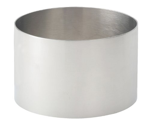 HIC Harold Import Co. 93212 HIC Food Ring, 18/8 Stainless Steel, 3.5-Inches Diameter x 2.125-Inches, Round, 3.5 Inch