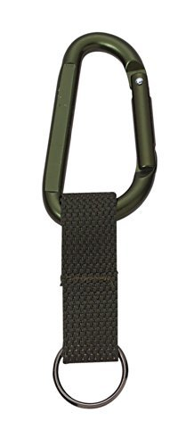 Rothco Jumbo 80MM Carabiner With Web Strap Key Ring, Olive Drab