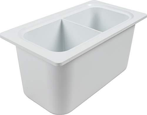- San Jamar CI7002 Chill-It 1/3 Divided Food Pan, 135 oz Capacity, White